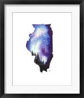Framed Illinois State Watercolor