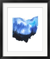 Framed Ohio State Watercolor