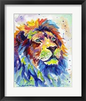 Framed Colorful African Lion