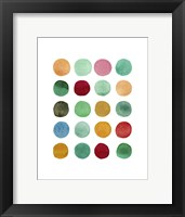 Framed Series Colored Dots No. I