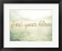 Water Bliss I Framed Print