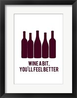 Framed Wine Sentiment I