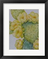 Cactus on Silver I Framed Print