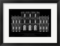 Framed Vintage Facade Blueprint I