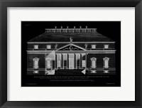 Framed Vintage Facade Blueprint II