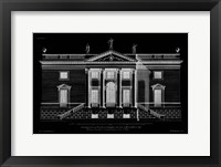 Framed Vintage Facade Blueprint V