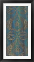 Blue Arabesque I Framed Print