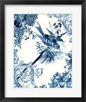 Bird & Branch in Indigo II Framed Print
