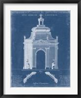 Garden Treillage Blueprint I Framed Print