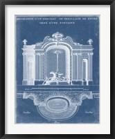Garden Treillage Blueprint II Framed Print