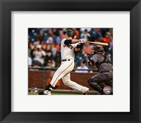 Framed Buster Posey 2016 Action