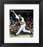 Framed Justin Verlander 2016 Action