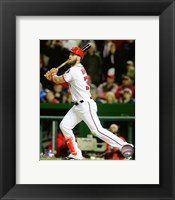 Framed Bryce Harper 2016 Action