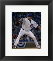 Framed Jon Lester 2016 Action