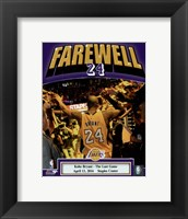 Framed Kobe Bryant plays his final NBA game-Staples Center- April 13, 2016