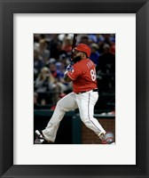 Framed Prince Fielder 2016 Action