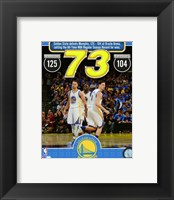 Framed Golden State Warriors set the NBA All-Time record for wins in a season at 73- April 13, 2016