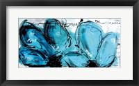 Framed 2 Fleurs Turquoises