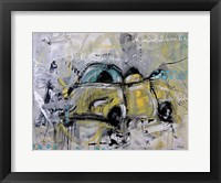 Framed Car Yellow