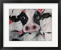 Framed Cow Pink