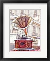 Framed Antique Gramophone
