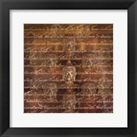 Framed Buddha - Scripture