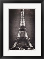 Framed Eiffel Lights B&W