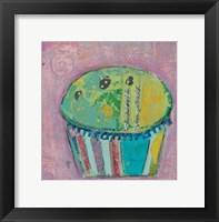 Framed Cupcake II  (green icing)