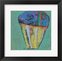 Cupcake III  (blue icing) Framed Print