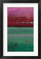 Framed Magenta Coast - A