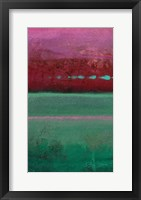 Framed Magenta Coast - A