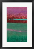 Framed Magenta Coast - B