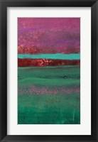 Framed Magenta Coast - C