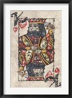 Framed King of Hearts