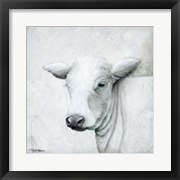 Framed January Cow II