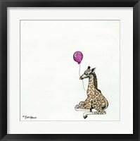 Framed Nursery Giraffe