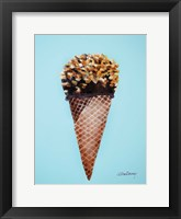 Framed Nutty Ice Cream Cone