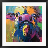 Framed Colorful Cow