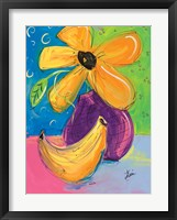 Framed Yellow Flower and Banana