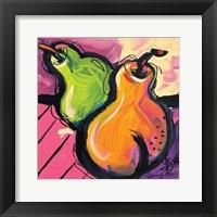 Framed Zany Pears