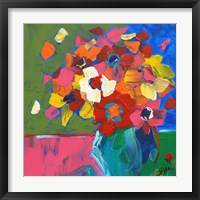 Framed Abstract Vase