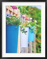 Framed Colored Pots