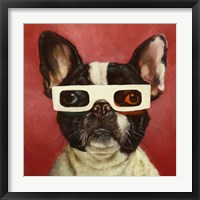 Framed 3D Dog