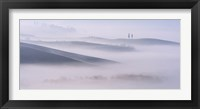 Framed Dawn Mist in Val d'Orcia, Tuscany