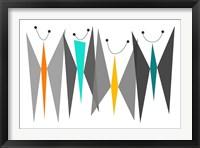 Framed Butterflies - Grays