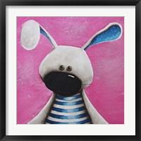Framed Blue Bunny