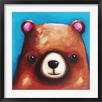 Framed Brown Bear