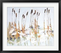 Framed Cattails and Ice