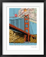 Framed Golden Gate Bridge - San Francisco