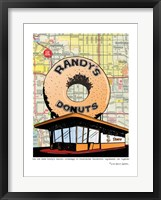 Framed Randy's Donuts